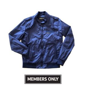 Members Only Royal Blue Vintage Style Bomber